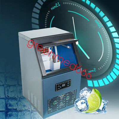 Usa Commercial Ice Maker Stainless Steel Bar Restaurant Ice Cube Machine