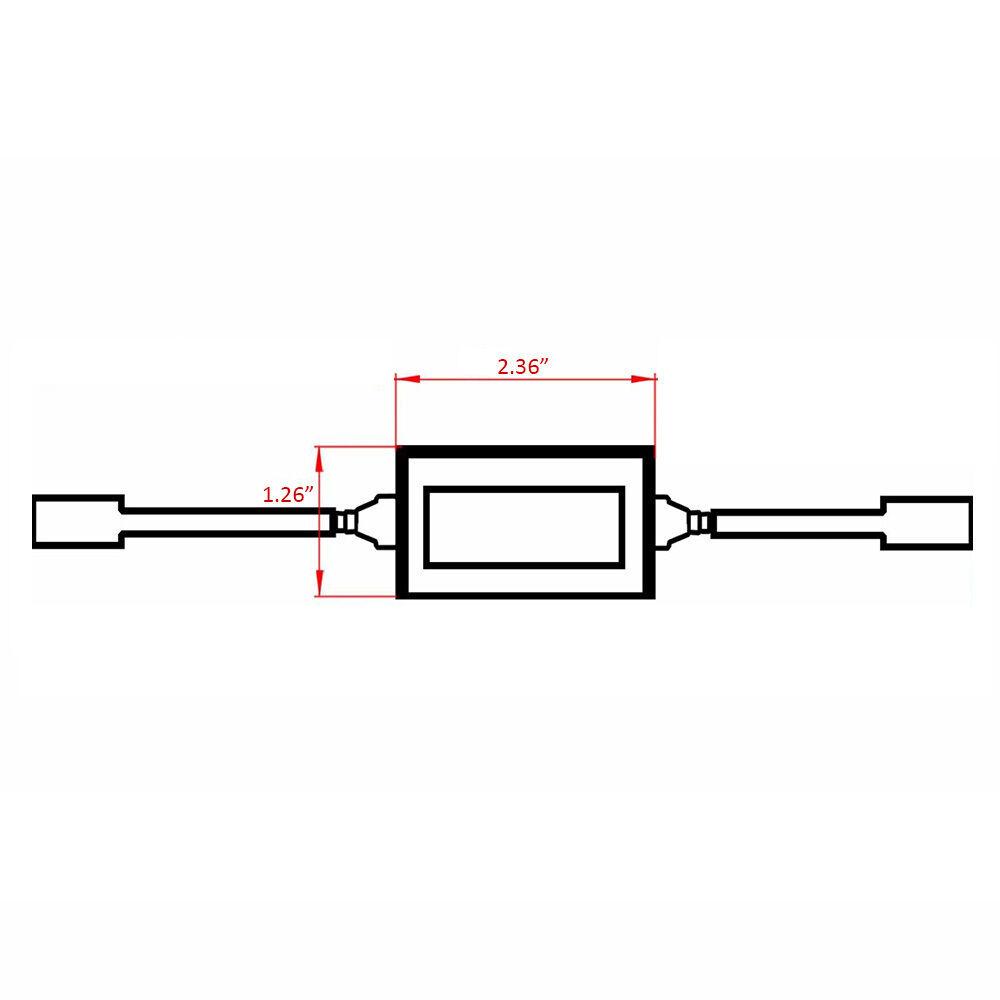 2x Emc 880 893 Fog Light Canbus Led Decoder Load Resistors