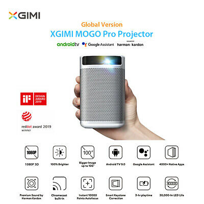 Global XGIMI MOGO Pro Projector 3D 1080P 4K DLP TV Portable LED Beamer M1P2