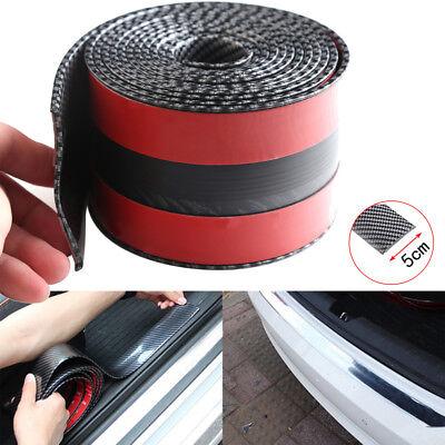 Car Parts - Car Sticker Carbon Fiber Rubber DIY Door Sill Protector Edge Guard Strip 5CM*1M