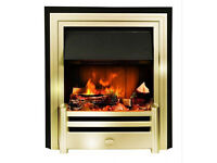 Dimplex Cavendish Opti-Myst Electric fire with themostatic control and remote.
