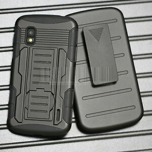 Rugged Hybrid Future Tank  Armor Impact Hard Case Holster Stand Defender Cover