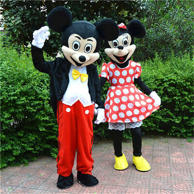 Mickey Mouse Mascot Costume Cartoon Character Fancy Cosplay Dress Adult Outfit 3