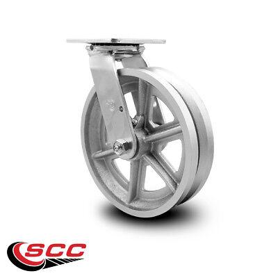 Scc 8 X 2 V Groove Semi Steel Wheel Swivel Caster - 1400lbscaster