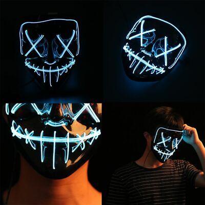 Halloween Mask LED Maske Light Up Party Masks Neon Maska Cosplay Mascara Horror  - Mascara Mask
