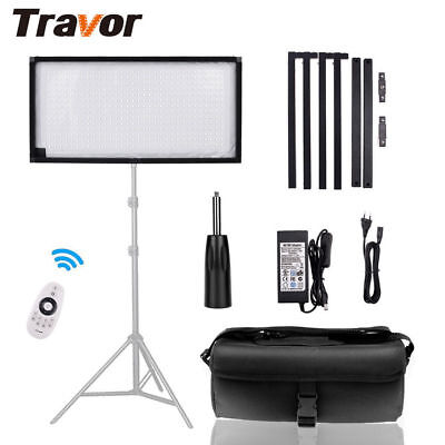 Travor FL1x2 5500K Flexible LED Video Light Photography Continuous Lighting Kit