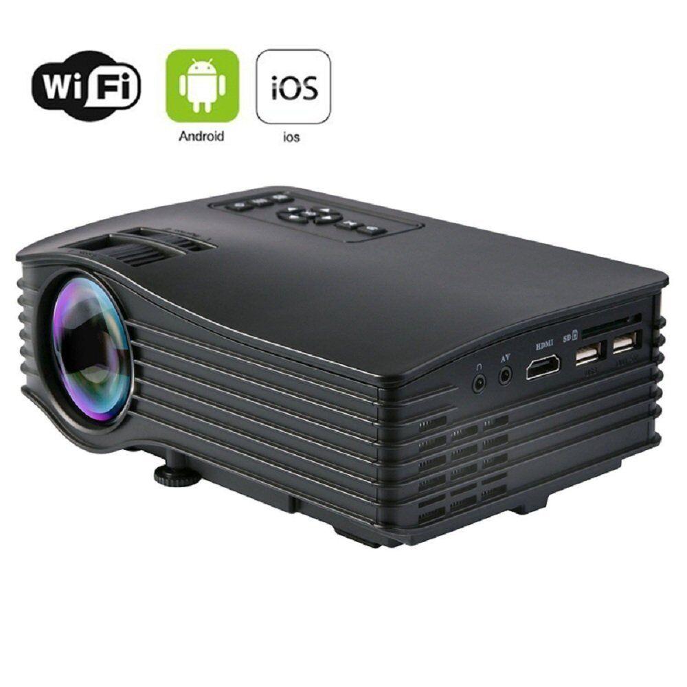 UC36 MINI PROIETTORE MULTIMEDIALE WIRELESS WIFI A LED CON AV USB SD MICRO HDMI