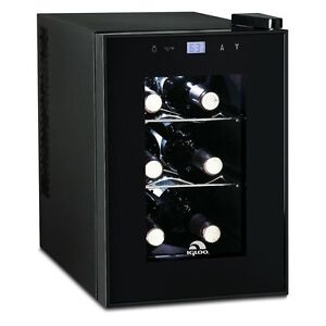 Igloo 6-Bottle Countertop Wine Cooler- Digital Temperature Control (Refurbished)