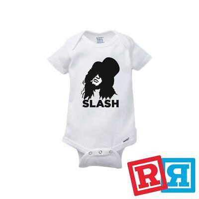 Slash Baby Onesie Guns N Roses Rocker Unisex Gerber Organic Cotton Bodysuit - Guns N Roses Bodysuit