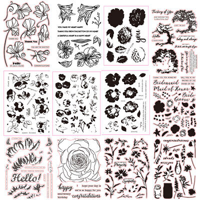 Transparent Silicone Clear Rubber Stamp Sheet Cling Scrapbooking Album Diary DIY - Clear Stamps