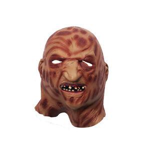 Freddy Krueger Nightmare On Elm Street Fancy Dress Deluxe Latex Mask Halloween