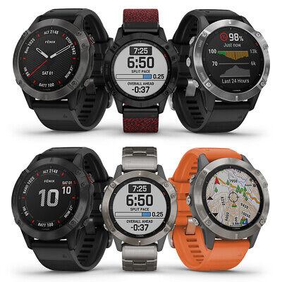 Garmin fenix 6 Multisport GPS Watch   Wrist HR, VO2 Max & Pulse Ox   BRAND NEW