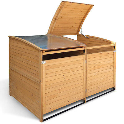 Mülltonnenbox Holz 240 L Gartenbox Mülltonnenverkleidung Mülltonne Anbau Deckel