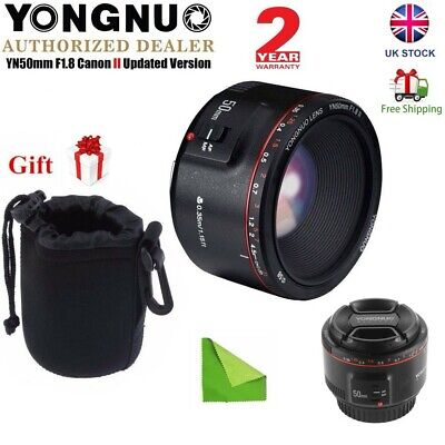 Yongnuo 50mm F1.8 II Auto Focus MF Prime Fixed Lens for Canon DSLR Camera UK