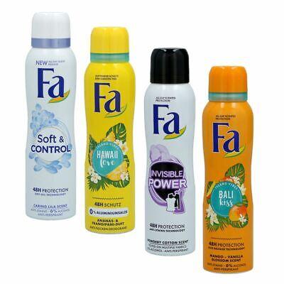 Fa Deospray Body Spray Woman - Women 6 x 150 ml - Verschiedene Sorten