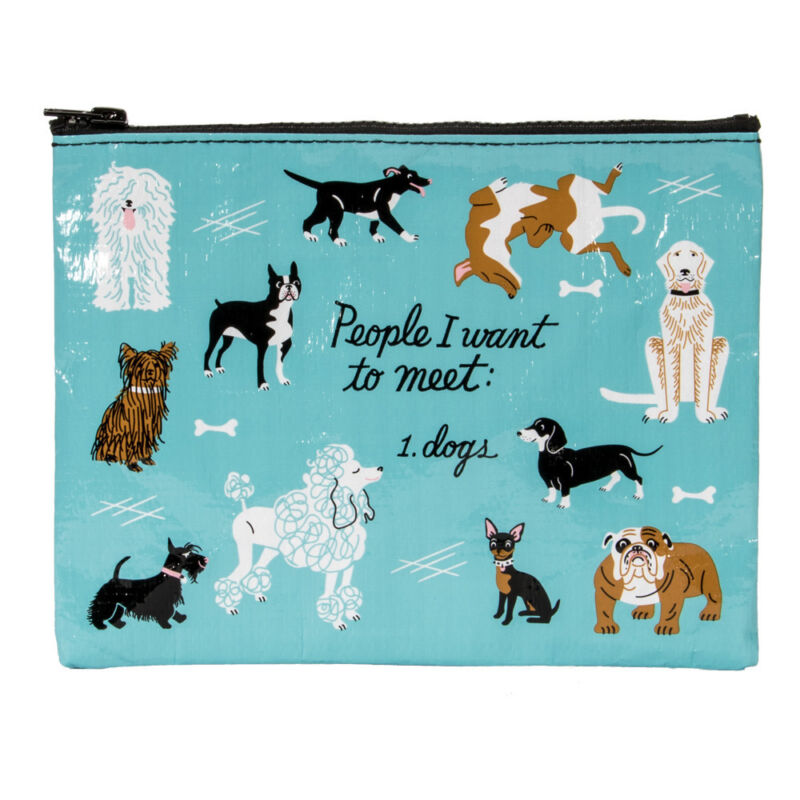 Blue Q Zipper Pouch: People to Meet: Dogs
