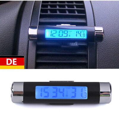 LCD Digital Auto Clip Thermometer & UHR Temperatur Datum Wohnmobil LKW Boot KFZ