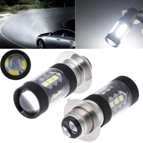 2PCS Headlight For Yamaha Raptor 700 700R 06-18 80W 6000K White LED Bulb H6M New