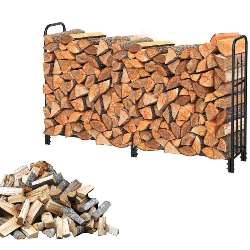 6 Foot Firewood Wood Lumber Storage Log Rack/Holder Indoor Outdoor Fireplace