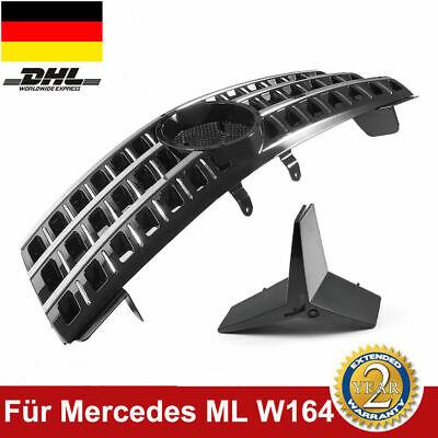 Für Mercedes-Benz Grill W164 ML 320 350 500 GLANZ SCHWARZ Kühlergrill Frontgrill
