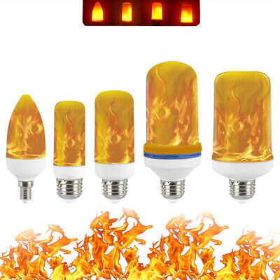 E27 LED Burning Flicker Flame Effect Fire Light Bulb Christmas Decorative Lamp