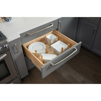 Kitchen Cabinet Drawer Wood Peg Board Organizer System Dishes Pots & Pans PEG-9 Peg Drawer Organizer