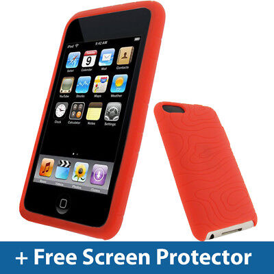 (Red Silicone Skin Case for iPod Touch 2nd 3rd Gen Generation 2G 3G iTouch Cover)