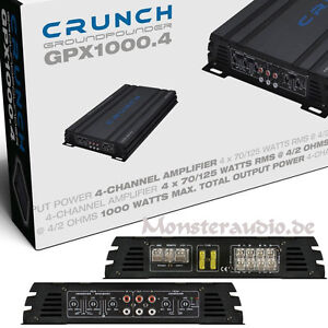 Crunch GPX 1000.4 Car-Hifi KFZ Verstärker Endstufe 4-Kanal 1000 WATT