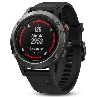 Garmin Fenix 5 Slate Gray With Black Band Gps Glonass Fitness Watch 010 01688 00