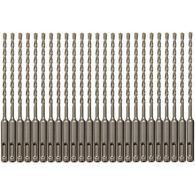 25pcs Sds Plus 316 X6 Rotary Hammer Concrete Masonry Drill Bit Carbide Tip