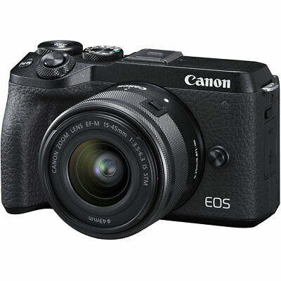 Canon EOS M6 Mark II Mirrorless Digital Camera w/ 15-45mm Lens (Black)