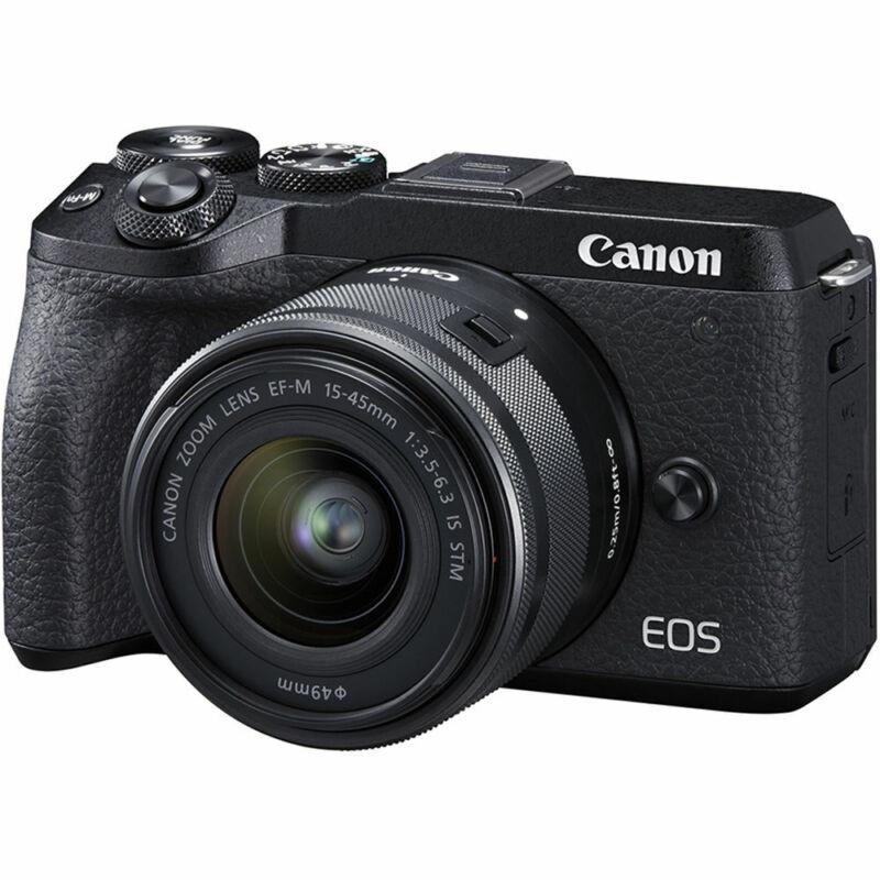 Canon EOS M6 Mark II Mirrorless Digital Camera w/ 15-45mm Lens (Black)