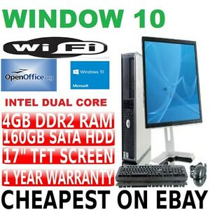 FULL-DELL-DUAL-CORE-DESKTOP-TOWER-PC-amp-TFT-COMPUTER-WITH-WINDOWS-10-amp-WIFI-amp-4GB