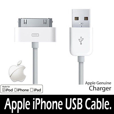 Genuine Charging Cable Charger Lead for Apple iPhone 4,4S,3GS,iPod,iPad2&1 for sale  Shipping to Canada