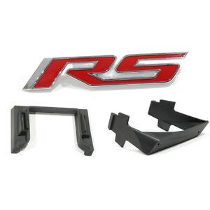 OEM NEW Front Bumper Grille RS Emblem & Mount Kit White 10-13 Camaro 92225496
