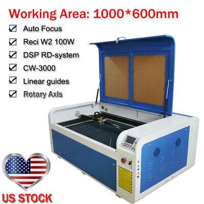 Used, Ruida DSP1060 100W Co2 USB Laser Cutting Engraver Machine Auto-Focus RECI Tube for sale  Shipping to Nigeria