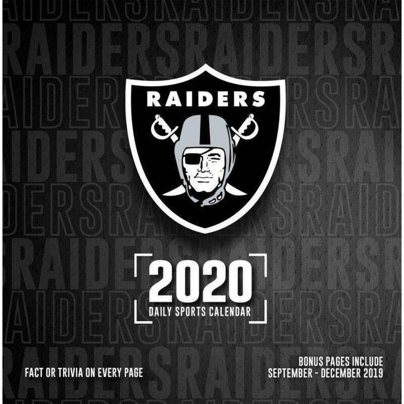 Turner Licensing, 2020 Calendars Raiders Desk Calendar with Adhesive Binding