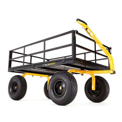 Gorilla Carts 1,400 lb. Capacity Heavy-Duty Steel Utility Ca