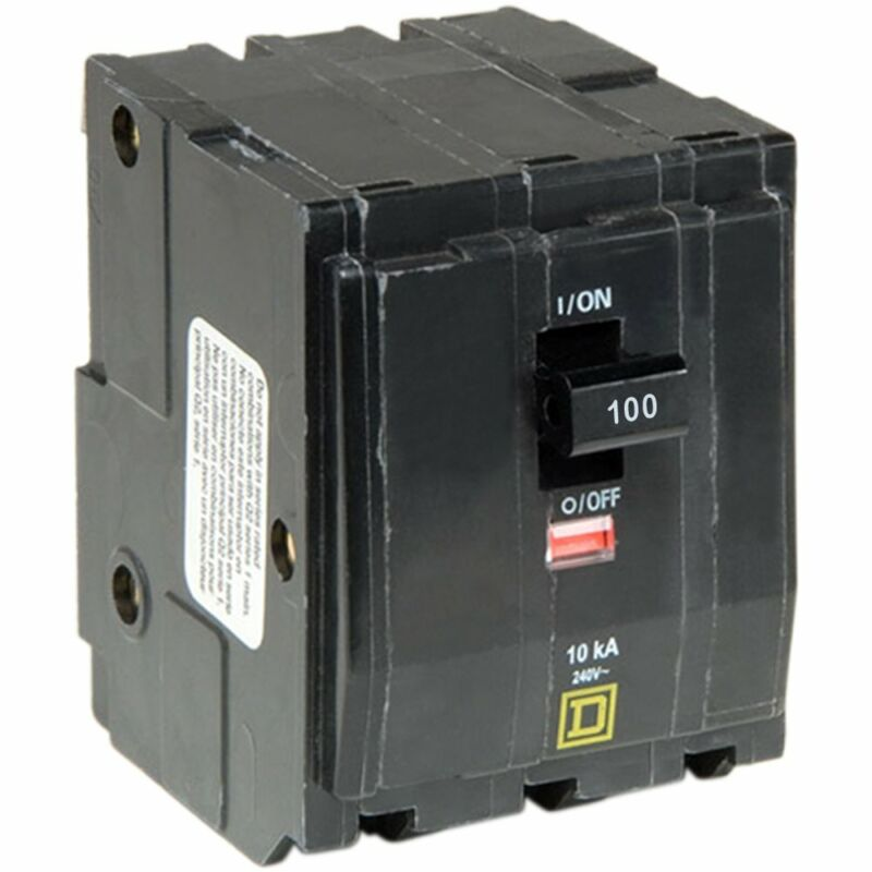 Square D by Schneider Electric QO3100 QO 100 Amp Three-Pole Circuit Breaker,