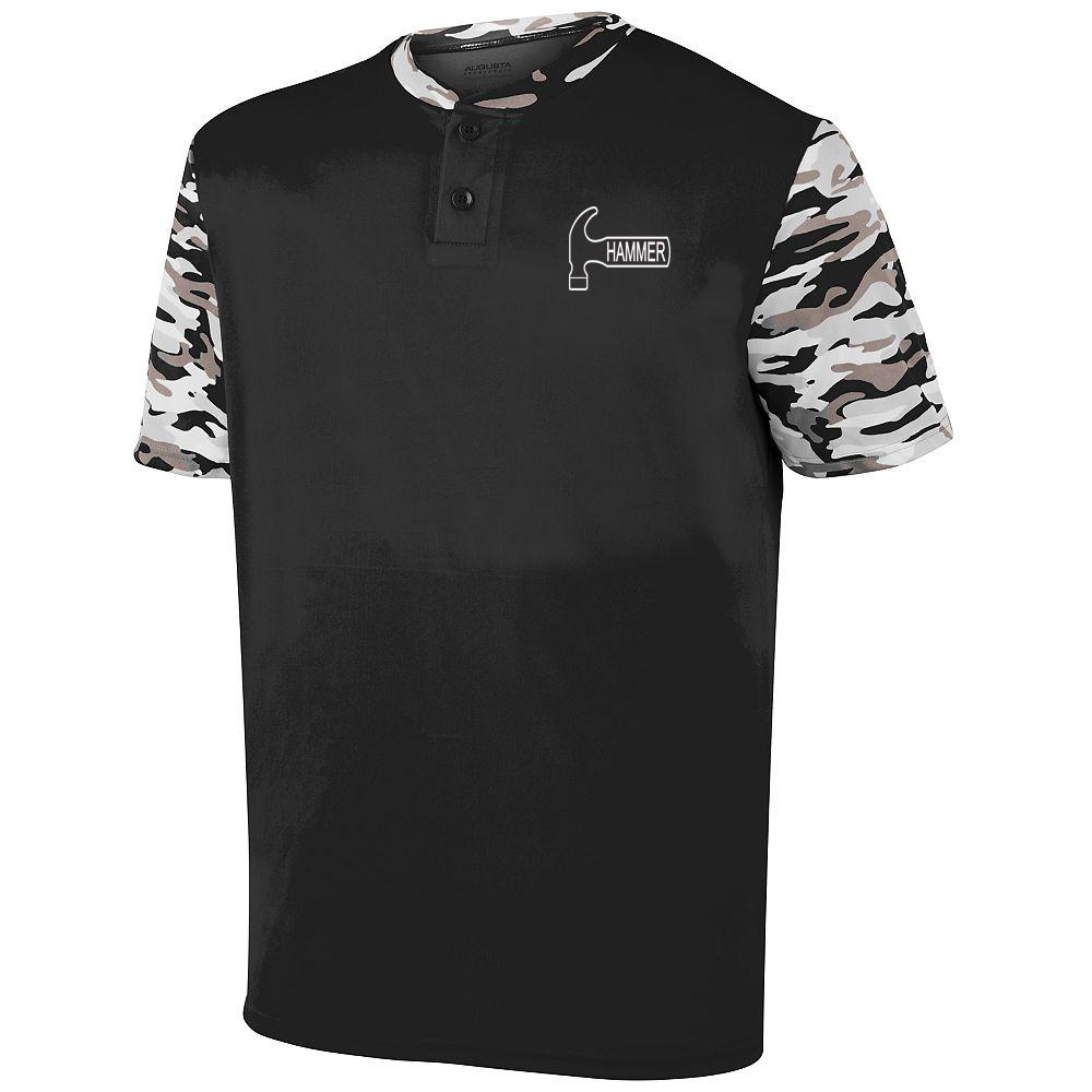 Hammer Men's Epidemic Performance Crew Bowling Shirt Dri-fit Black