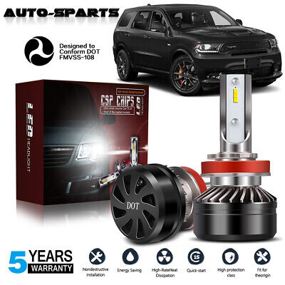 DOT H11 H8 H9 H16 CSP LED Fog Light Conversion Kit Premium 6000K HID White (Best Projector For 200)