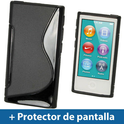 Negro Case TPU Gel para Nuevo Apple iPod Nano 7ª Generación 7G TPU Funda Cover
