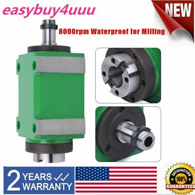 1.5kw 8000rpm Bt30 Power Head Spindle Unit Cnc Mechanical Milling Drilling New