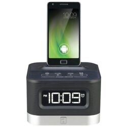 iHome iC50 Universal Charging FM Stereo Alarm Clock Radio for Android Smartphone
