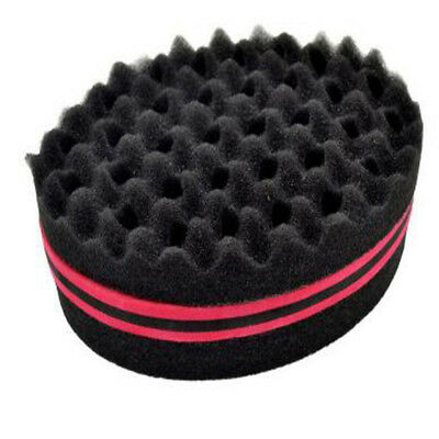 Locking Afro Curl Twist Dreads Coil Wave Double Side Barber Hair Brush Sponge