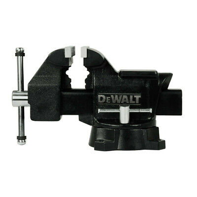 Dewalt 5 In. Heavy Duty Workshop Bench Vise With Swivel Base Dxcmwsv5 New