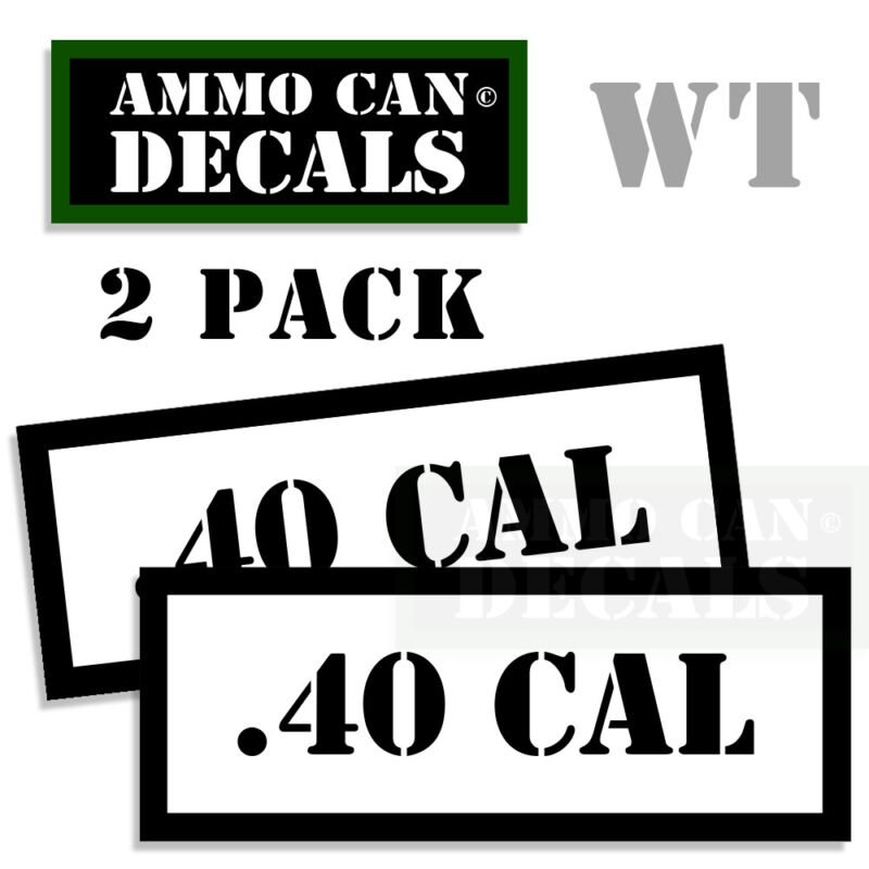 MISC Ammo Can Box Decal Sticker bullet ARMY Gun safety Hunting Labels 2 pack AG