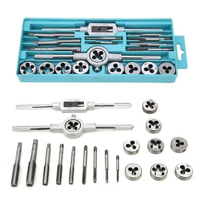 TAP AND DIE Set SAE & METRIC w/Case Screw Extractor Remover Chasing New