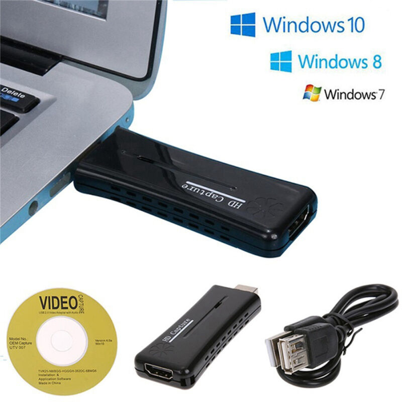 USB 2.0 Port HDMI 1 Way Video Capture Card For Windows XP/Vi