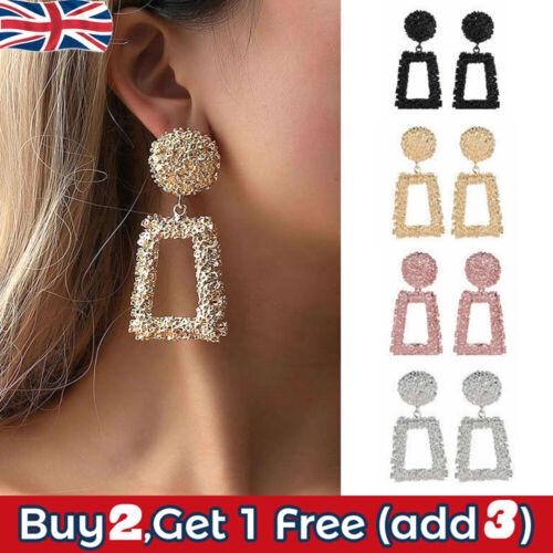 Jewellery - Fashion Punk Gold Metal Dangle Earrings Jewelry Geometric Big Drop Earrings